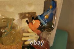 Rare Disney Mickey Mouse Fantasia SORCERER'S APPRENTICE MUSICAL Snow Globe NEW