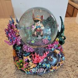 Rare Disney Pinocchio Looking For Monstro Snow Globe RARE
