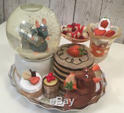 Rare Disney Pixar Ratatouille Musical Snow Globe Dessert April in Paris
