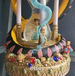 Rare Disney Snow Globe Aladdin Large Hourglass No Flaws