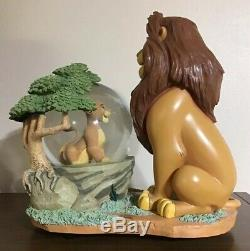 Rare Disney Store 28565 Lion King Mufasa And Simba Musical Snow Globe