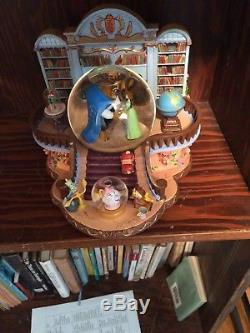 Rare! Disney Store Beauty and the Beast Musical Snowglobe Used, Repaired/damaged