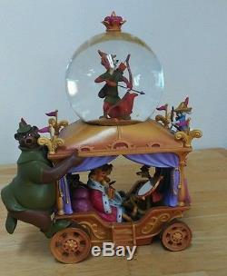 Rare Disney Store ROBIN HOOD Musical Snow Globe 35th Anniversary NO Box