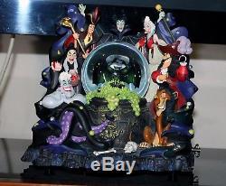 Rare Disney Villains Statue Snow Globe Evil queen JAFAR MALEFICENT SCAR URSULA
