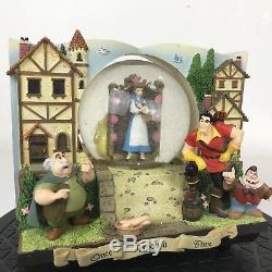 Rare Disney World Beauty And The Beast Two Sides Musical Snow Globe Read