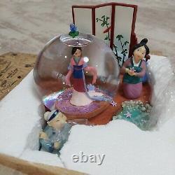 Rare Mulan Exclusive Disney Snow Globe READ