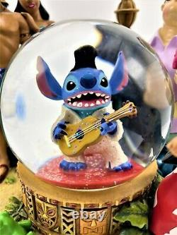 Rare Stitch As Elvis Disney Snow Globe