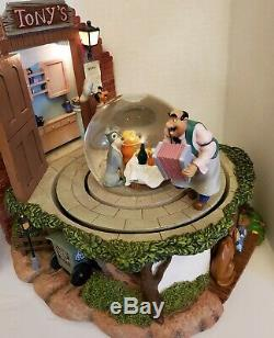 Rare UK Disney Lady and the Tramp Snow Globe VHTF