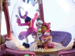Rare Walt Disney Peter Pan You Can Fly Musical Snow Globe Captain Hook Lost Boy