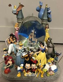 SNOW GLOBE Musical 120MM CHATEAU CHARACTERS NEW / Personnages Nouveau Disneyland