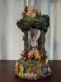 Snow White And The Seven Dwarfs Hour Glass Disney Snowglobe 360 Degree Rare