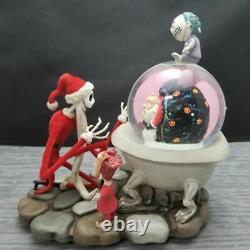 Super Rare Nightmare Before Christmas Santa Jack Lock Shock Barrel Snow Globe