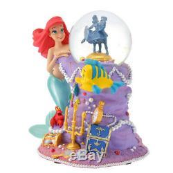 The Little Mermaid Disney Store 30th Ariel Snow globe Snow dome Figure Flander