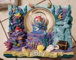 The Little Mermaid Storybook Ariel Musical Snowglobe 2 Sided Disney Snowglobe