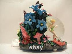 Tinker Bell Fairyland Musical Light Up Snow Globe Disney'you Can Fly' Animated