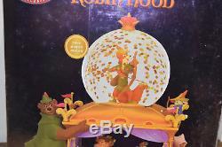 VHTF RARE Disney Store ROBIN HOOD Carriage Prince John Snow Globe BRAND NEW