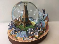 Very Rare Disney Paris Ratatouille Snowglobe (See Description and Video)