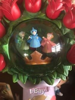 Very Rare Disney Sleeping Beauty Bouquet Snowglobe Decoration Gift