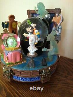 Vintage Disney Disneyland Grim Grinning Ghosts Haunted Mansion Snow Globe Glass