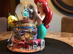 Walt Disney The Little Mermaid Ariel Flounder Under The Sea Musical Snowglobe