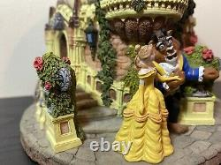 Walt Disney Beauty and the Beast Musical Snow Globe Castle Plays Theme Song