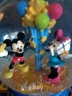 Walt Disney Mickey Minnie 100th Year Musical Snow Globe Barely Used And Mint