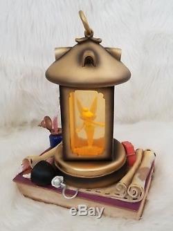 Walt Disney Peter Pan Tinkerbell in Lantern Musical Snow Globe You can fly