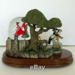 Walt Disney Sleeping Beauty & Prince Snow Globe Rare Vintage Musical Storybook