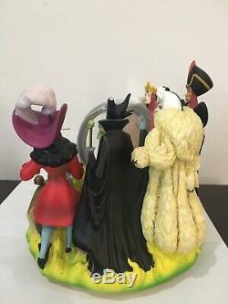 Walt Disney Villains Snowglobe fortune Teller Evil Queen Hook Ursula Maleficent