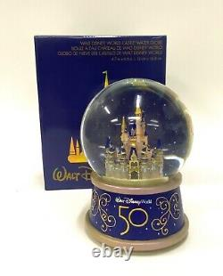 Walt Disney World 50th Anniversary Magic Kingdom Cinderella Castle Snow Globe