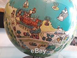 Walt Disney World Globe, 1970's 15 Vintage. Cinderella's Castle and other RARE